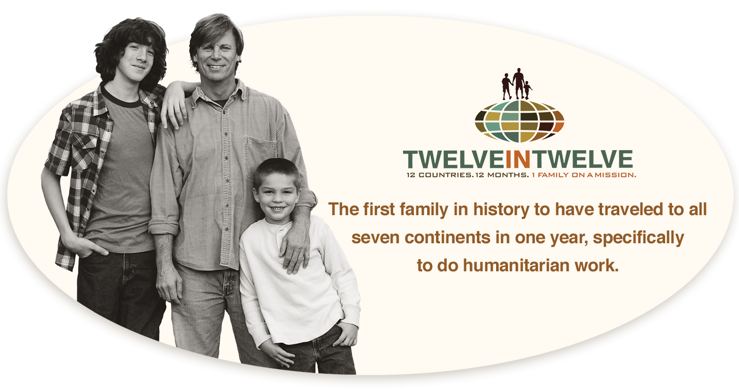 The First Family to have traveled to all 7 continents, specifically to do humanitarian work